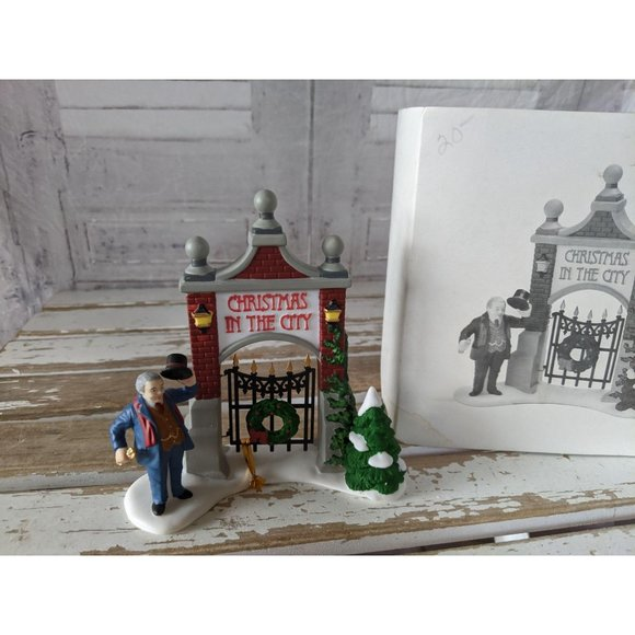 Dept 56 58893 Christmas in the city sign heritage